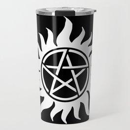 Anti Possession Sigil White Travel Mug
