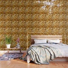 Crumpled Golden Foil Wallpaper