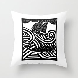 Herman - Paper Cut Illustration. 2015 Throw Pillow