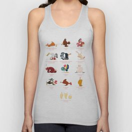 Chicken Yoga Unisex Tank Top