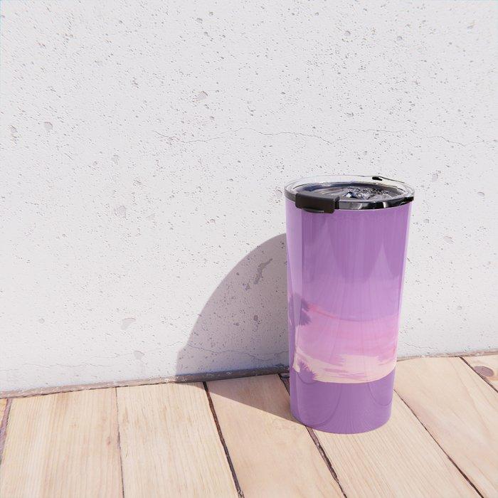 Lavender Joshua Sunset - Pop_Art Travel Mug