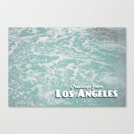 Greetings from Los Angeles III - Pool Canvas Print