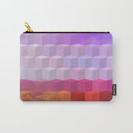 Ultra Surreal Countryside Violet Rainbow Carry-All Pouch