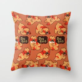 Dog Lord Throw Pillow
