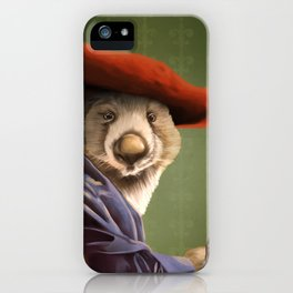 Wombat with a Red Hat iPhone Case