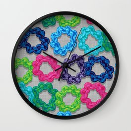 Scrunchie Hairbands Wall Clock