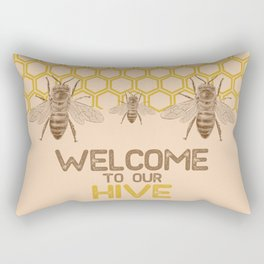 Welcome to Our Hive Rectangular Pillow