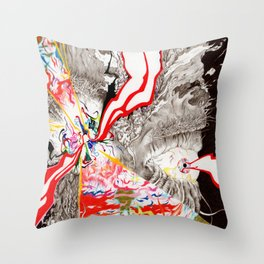 Eye see that Eye can Create (Untitled Face I) Throw Pillow