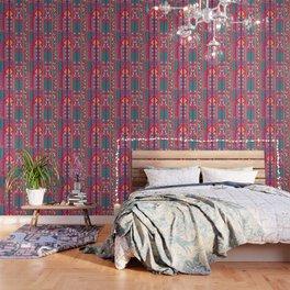 Tribal ethnic geometric pattern 001 Wallpaper