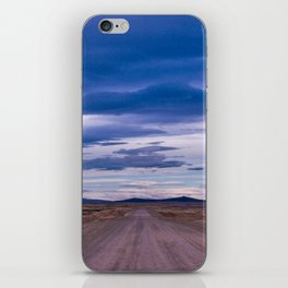 Wind and empty roads in Patagonia. iPhone Skin