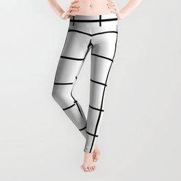 Black and White Grid Leggings