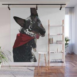 Adorable Dog Wrigley Wall Mural
