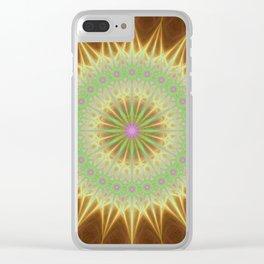 Fractal mandala sun Clear iPhone Case