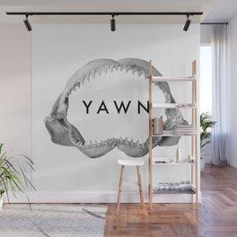 Yawn Wall Mural