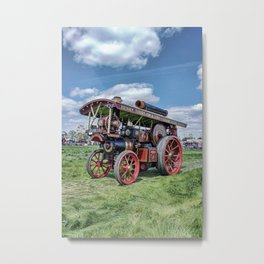 """Showmans Engine """"Lord Nelson"""" Desatuated Metal Print"""
