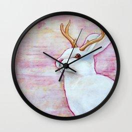 White Jackalope Wall Clock