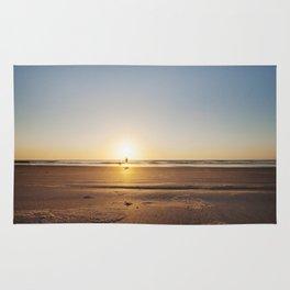 Beach Walk at Sunrise Rug