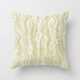 Citrine Melt Throw Pillow