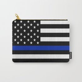 Police Flag with Officers Carry-All Pouch