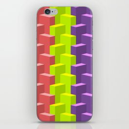 Colored Cubes in 3d iPhone Skin