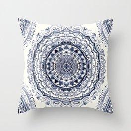 Supernova-In Navy, Dark Blue, & Grey Throw Pillow