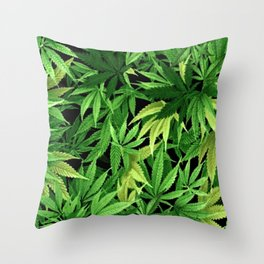 Cannabis Throw Pillow