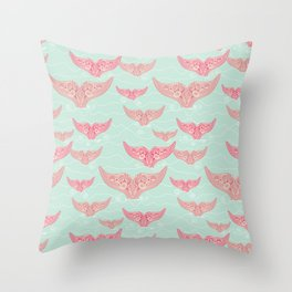 FINALLY! Whales are free from persecution! Throw Pillow