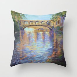 The River Cam Throw Pillow