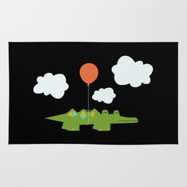 Flying Croc Rug