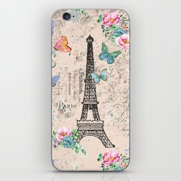 Paris - my love - France Nostalgy - pink French Vintage iPhone Skin