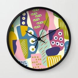 Colourful print Wall Clock