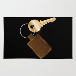 Leather Key Fob With Key Rug