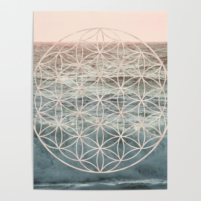 Mandala Flower of Life Sea Poster