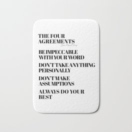 the four agreements Badematte