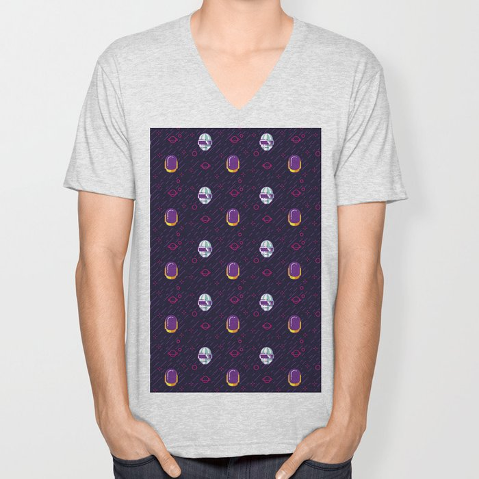 Daft Punk Pattern Unisex V-Neck