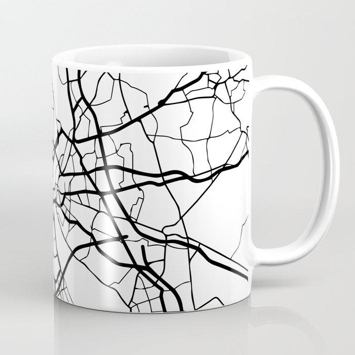 COLOGNE GERMANY BLACK CITY STREET MAP ART Coffee Mug