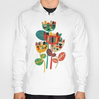 budi Hoodies featuring Wild Flowers by Picomodi