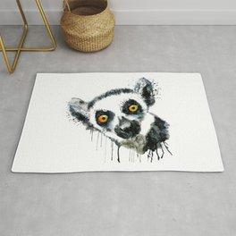 Lemur Head Rug