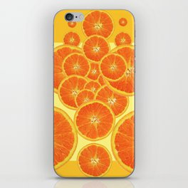 CONTEMPORARY ORANGE SLICES  ABSTRACT MODERN ART iPhone Skin