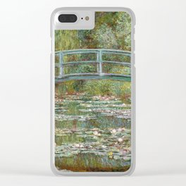 Monet, Water Lilies and Japanese Bridge, 1854 Clear iPhone Case
