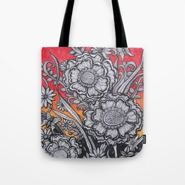 Floral Sunset Tote Bag