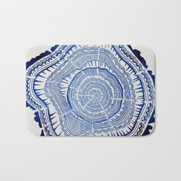 Growth Rings – 65 Years – Navy Bath Mat