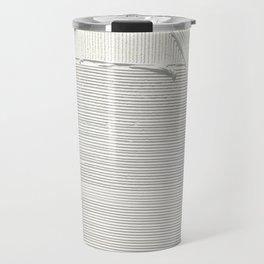 Relief [2]: an abstract, textured piece in white by Alyssa Hamilton Art Travel Mug