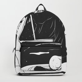 Passenger taxi grim - black and white - gothic reaper Backpack