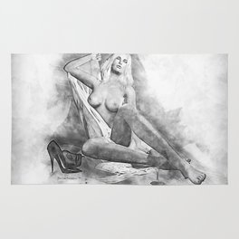 Pencilled for Pleasure Rug