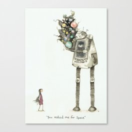 """""""you asked me for space"""" (text version) Canvas Print"""