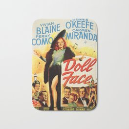 Vintage Movie Posters, Doll Face Bath Mat