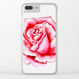 EO Blooming Rose 3 Clear iPhone Case