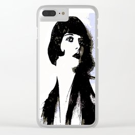 LOUISE BROOKS:  MY LOVE IS ALL I HAVE TO GIVE Clear iPhone Case