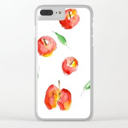 Watercolor Apples Clear iPhone Case